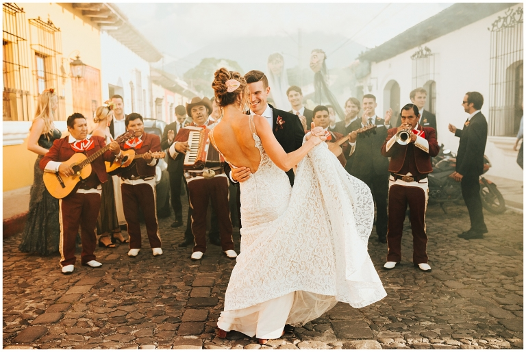 Antigua Guatemala Wedding Parade