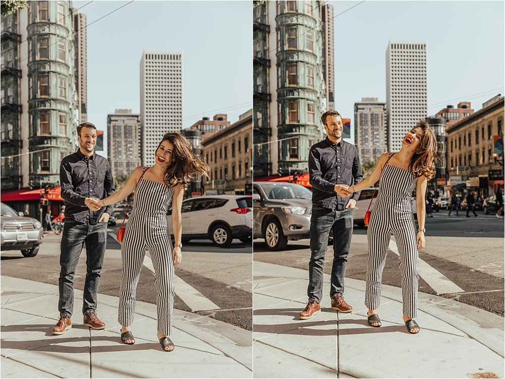 Down Town San Fransisco Engagement Session