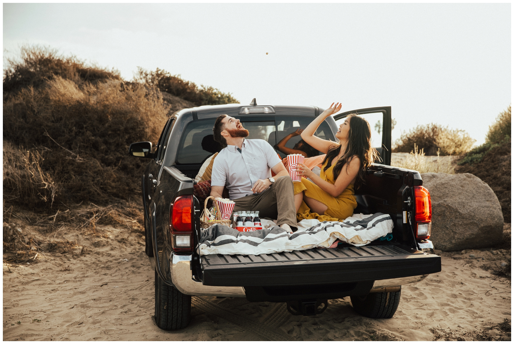 San Diego Engagement Session, Tailgating engagement Photography