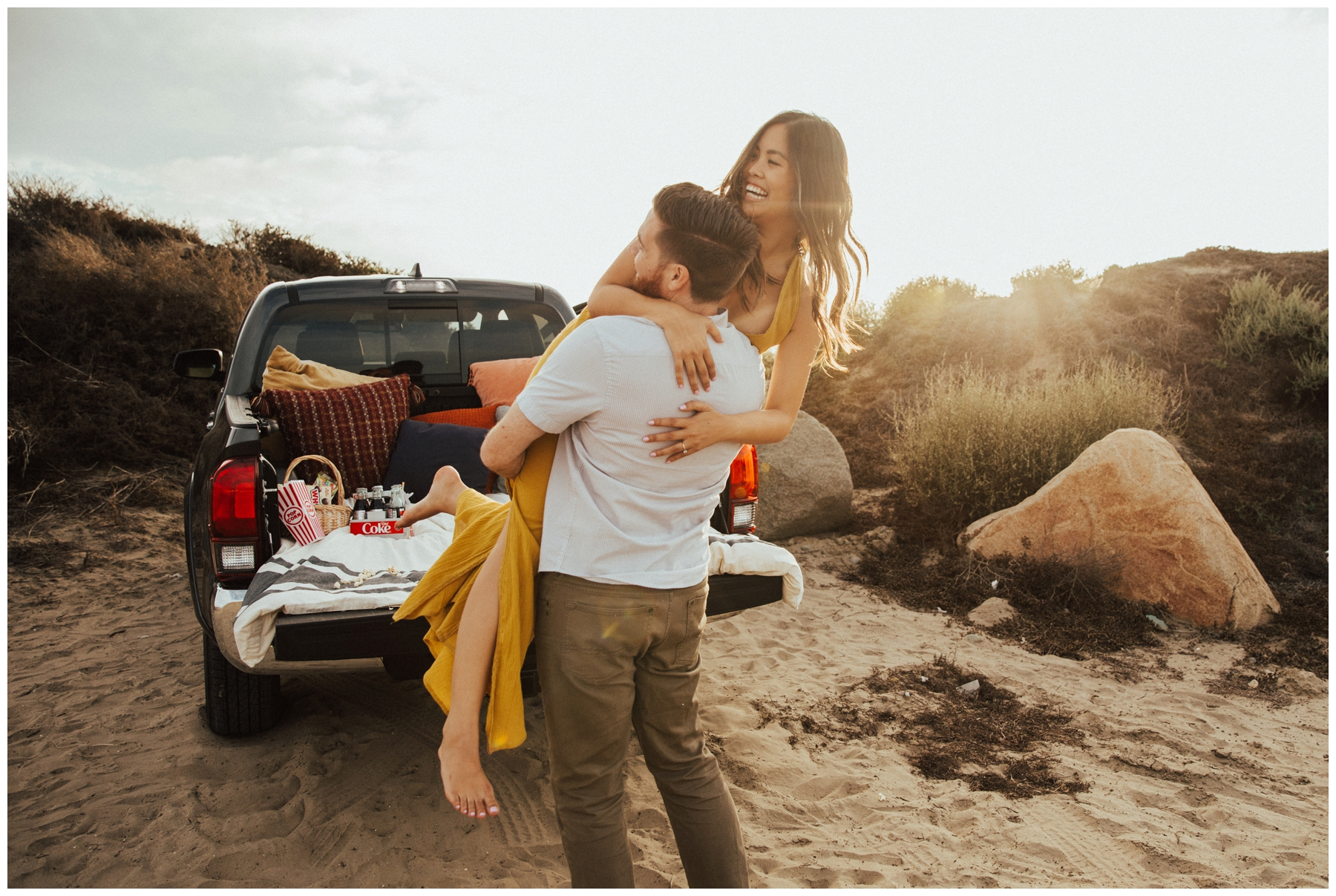 Tailgate engagement inspo in San diego
