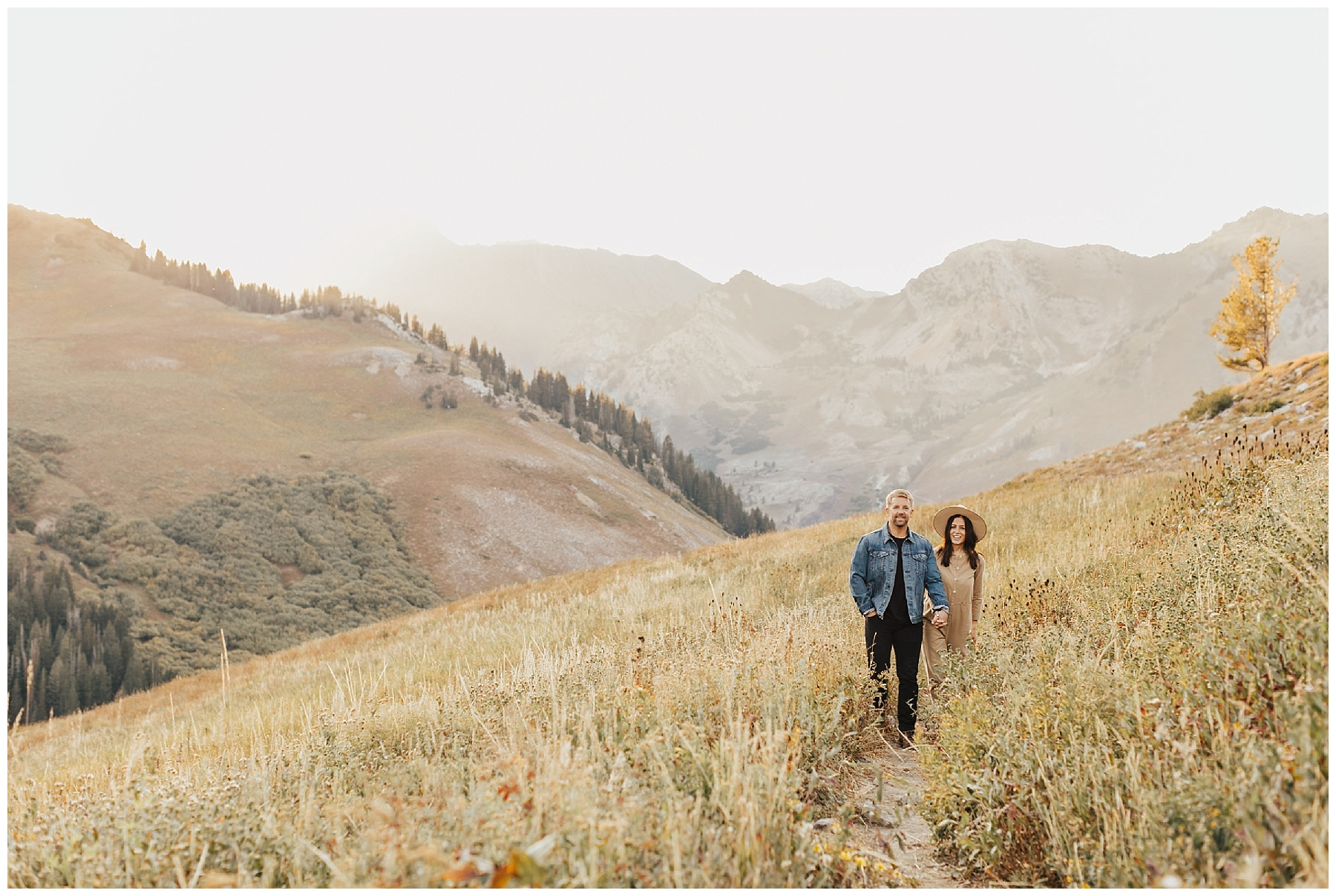 Little Cottonwood Engagement Session | Albion Basin Session