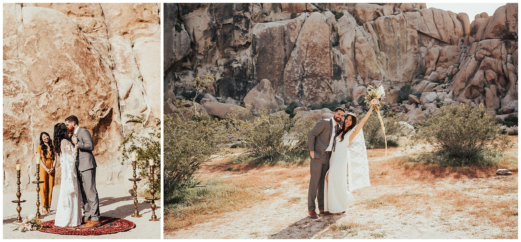 Joshua Tree Wedding at Indian Cove Amphitheater