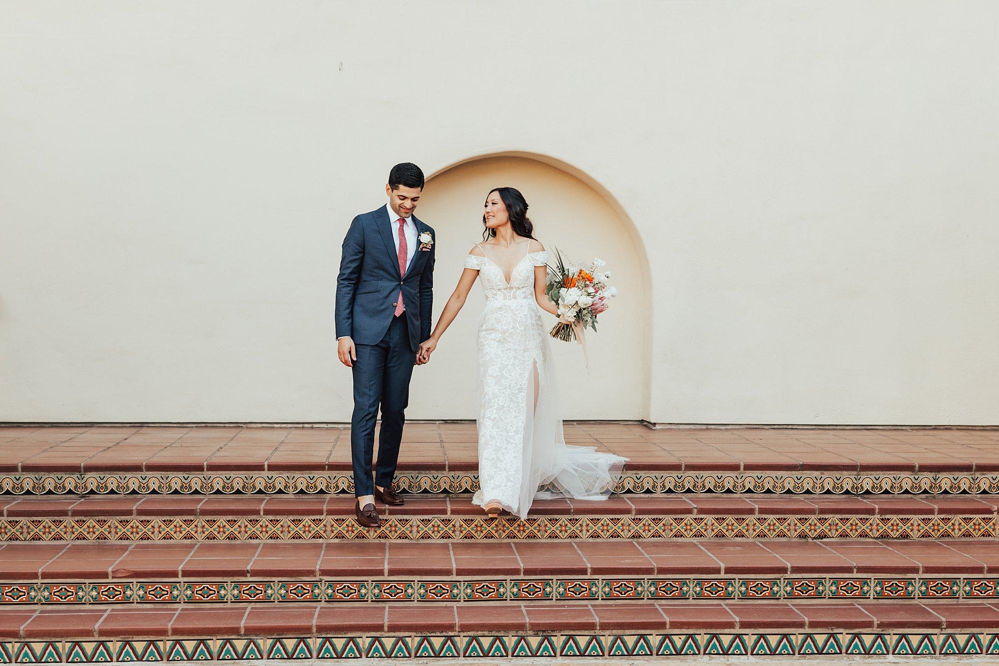 Bride and Groom at Estancia Hotel