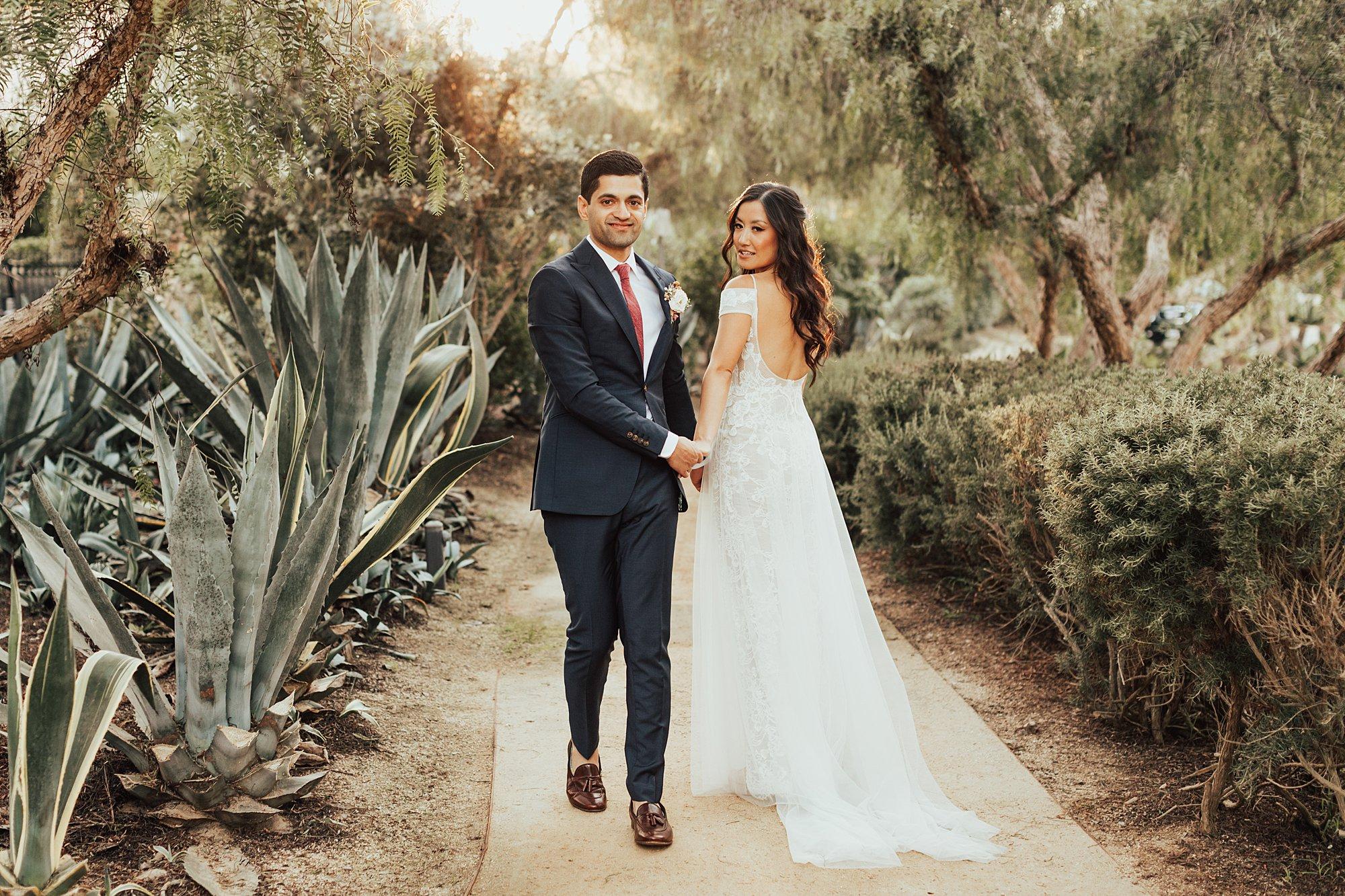 Bride and groom photos at Estancia Hotel