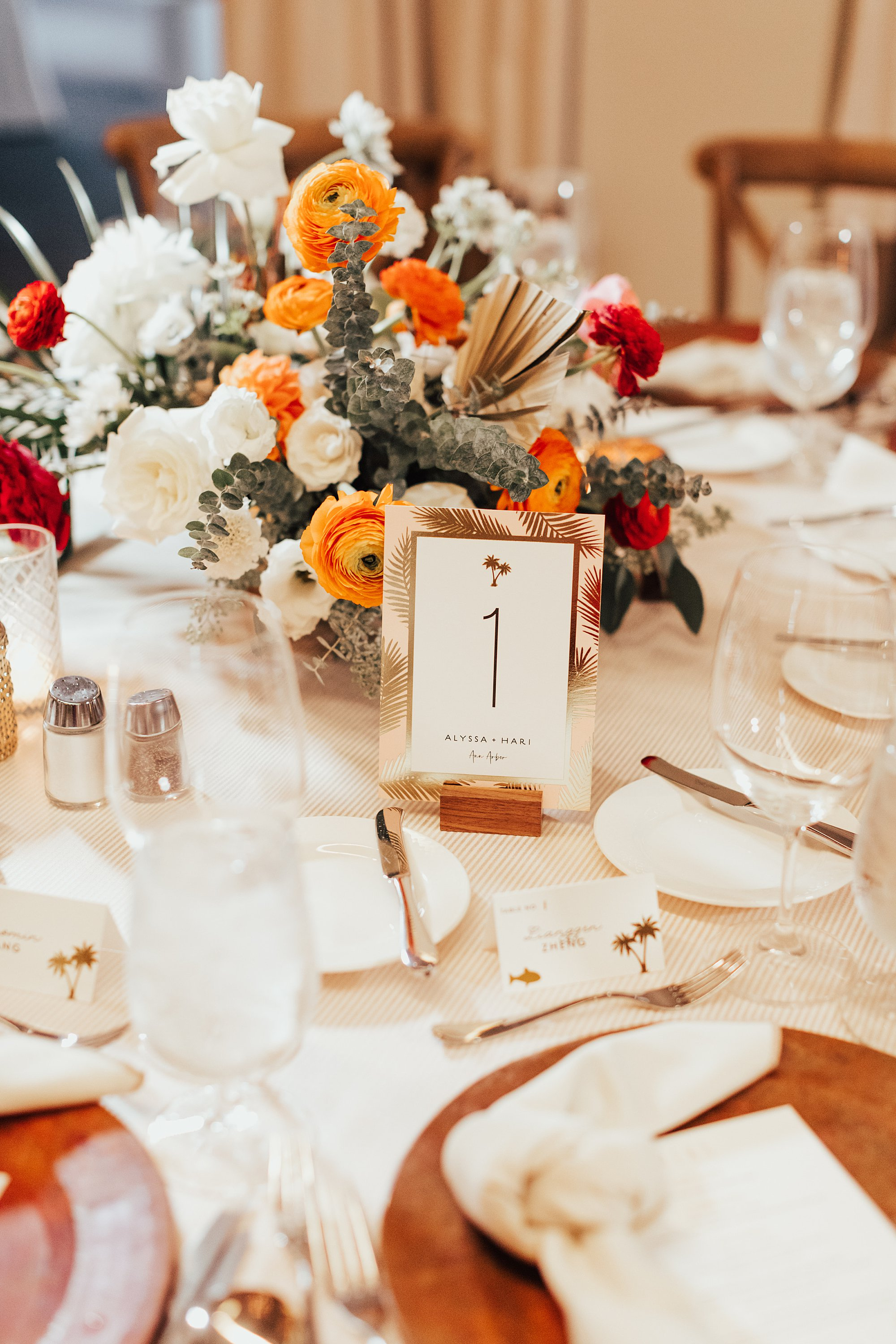 Table Numbers at Estancia