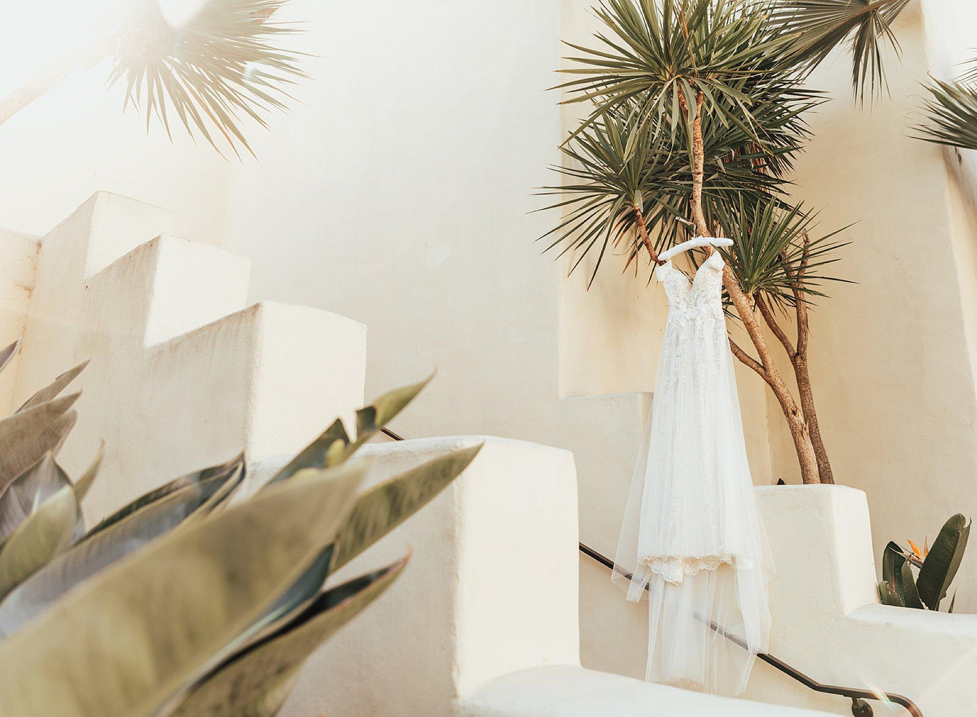 Dress hanging at estancia hotel